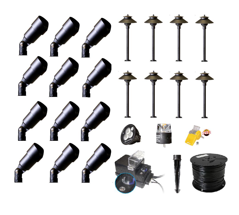 Best buy complete premium landscape lighting diy kits for Landscape lighting packages