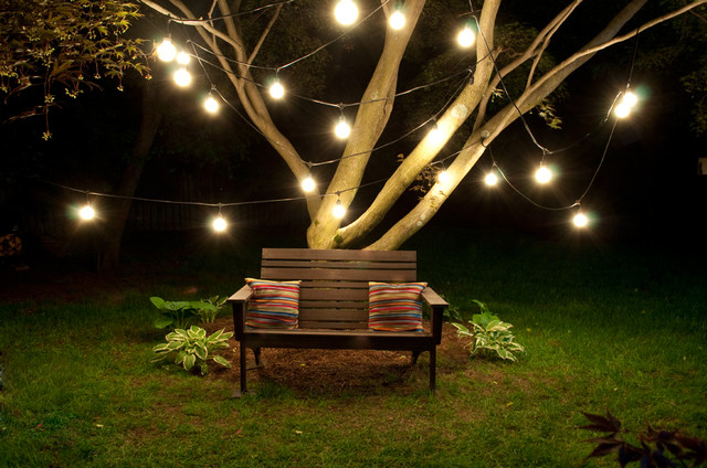 Affordable cost led patio lighting kit wifi control diy kit 48ft vintage edison style led string bistro lights aloadofball Choice Image
